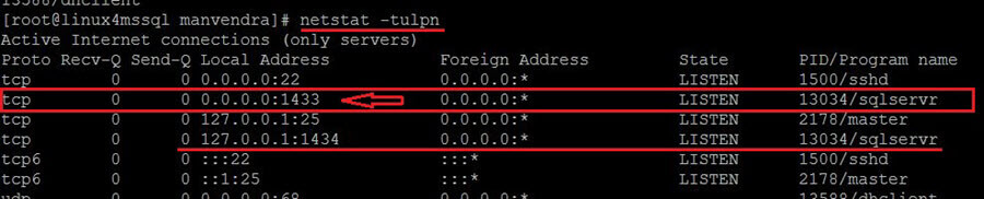 netstat command to check all connections running on server with their port number