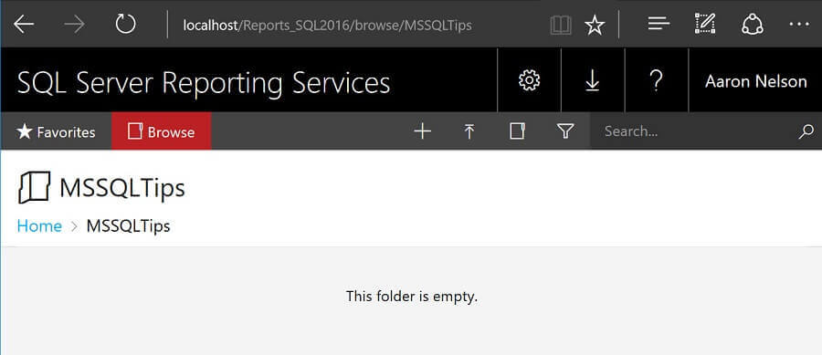 After running New-RSFolder, you should have an empty folder like below