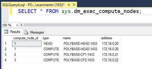 SELECT * FROM sys.dm_exec_compute_nodes;