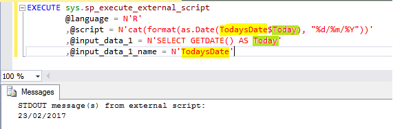 @input_data_1_name parameter is being used in the @script parameter and how to reference the query field