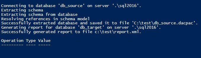 default result from PowerShell of removing a Database object