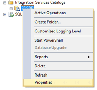 SSIS Catalog properties - Description: SSIS Catalog properties