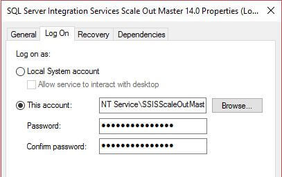 NT Service\SSISScaleOutMaster140 account running the SSIS Scale Out Service