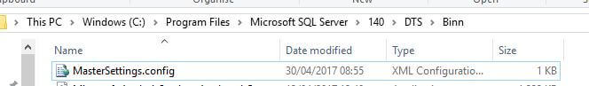 Scale Out Master service can be configured using the C:\Program Files\Microsoft SQL Server\140\DTS\Binn\MasterSettings.config file