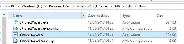 Scale Out Master executes the packages locally with ISServerExec.exe