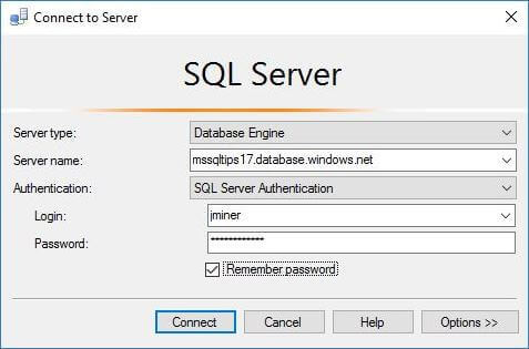 Use SSMS With Math Database