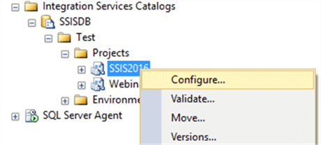 configure ssis project