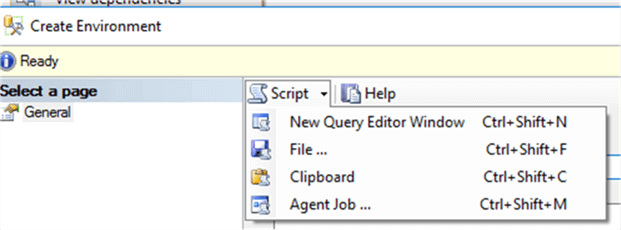 script ssis environment