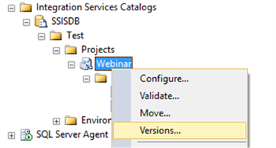 ssis project versions - Description: ssis project versions