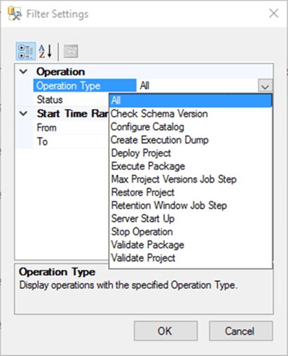 operations in the catalog