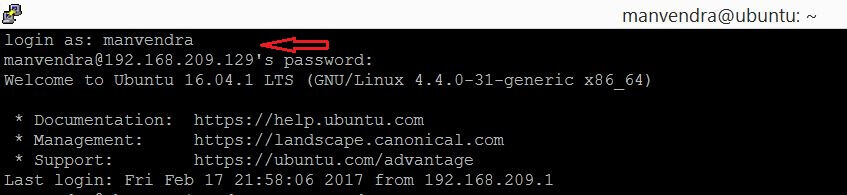 connect to Ubuntu Server