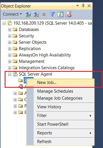 validate the installation of SQL Server Agent
