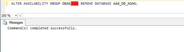 remove primary database from AOAG using T-SQL