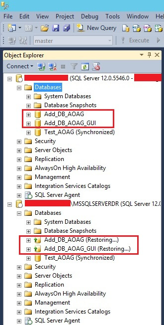 SSMS status of removed databases