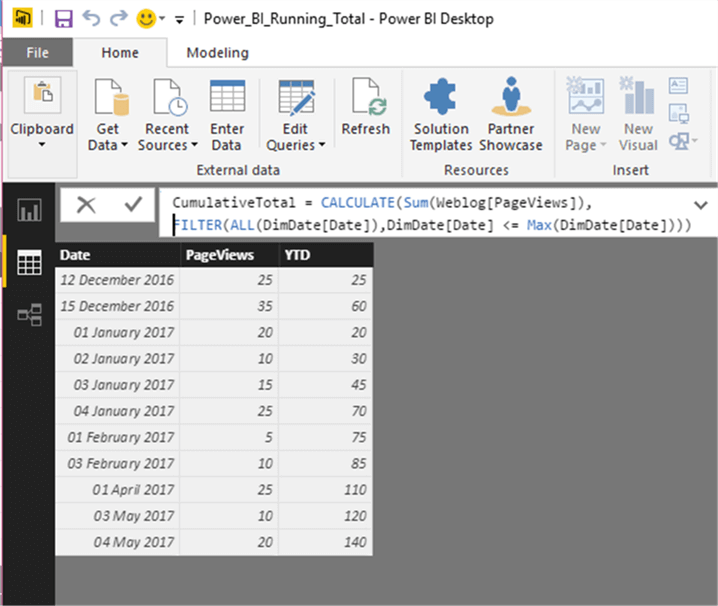 Creating Running Total - Description: Creating Running Total