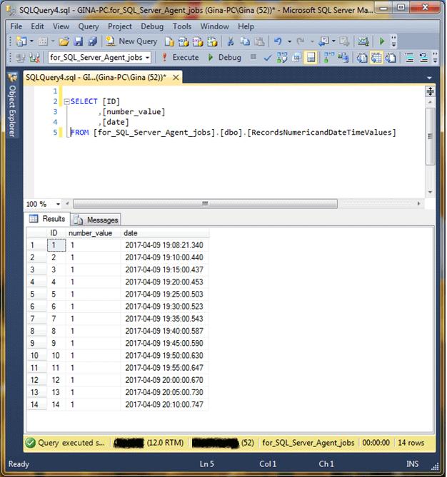 Validate data entered via the SQL Server Agent Job
