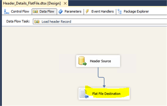 FlatFile Destination - Description: Need to add FlatFile Destination for the Source