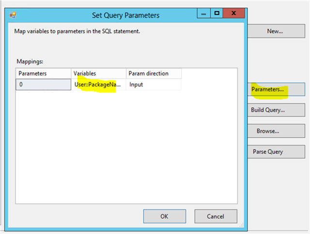 Query paramerts for Detail records - Description: The Query paramter needs to be mapped with a variable .