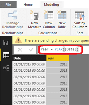 Creating a Date Dimension Table in Power BI