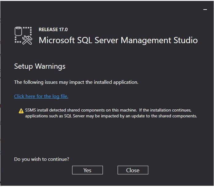 Install SQL Server Management Studio 17.0