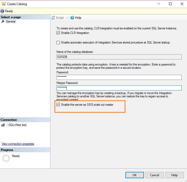 Enable this server as SSIS Scale Out Master