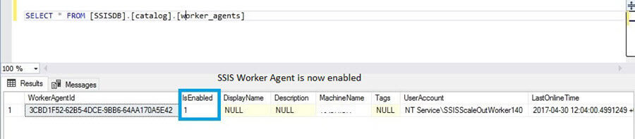 SSIS Scale Out Worker is enabled