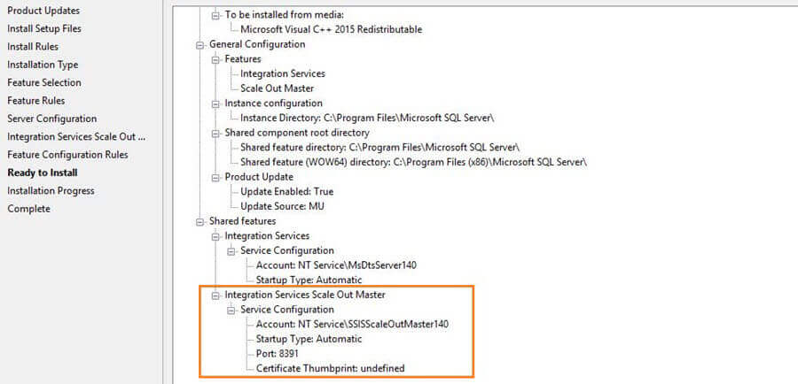 Integration Services Scale Out Master Service Configuration