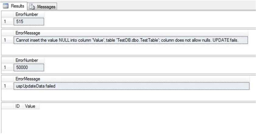 insert exec statement cannot be nested in sql