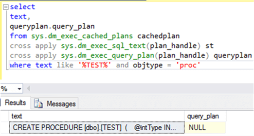 populate procedure Test plan cached details - Description: populate procedure Test plan cached details