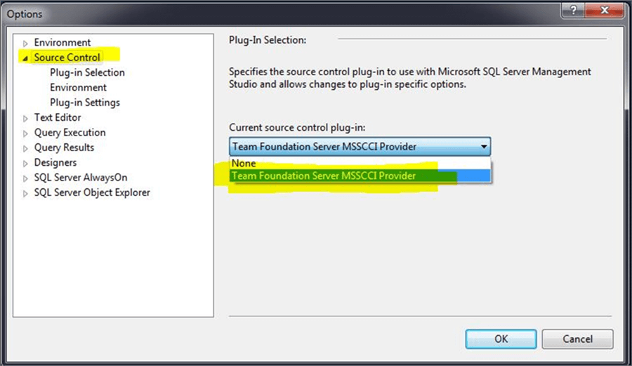 Using Source Control with SQL Server Management Studio