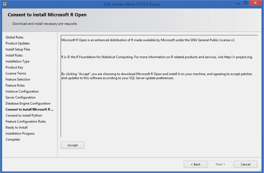Microsoft R Open - Description: Consent to install R