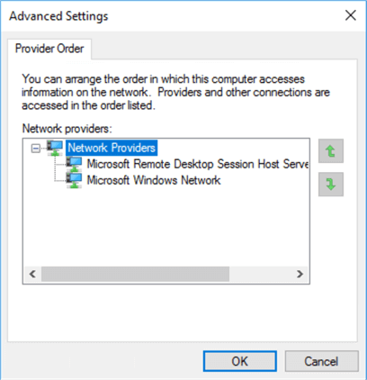 Configure Network Binding Order for a Windows Server 2016
