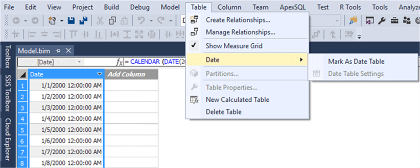 Scenarios for Using Calculated Tables in SSAS Tabular 2016