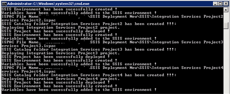 SSIS Environment has been created - Description: SSIS Environment has been created