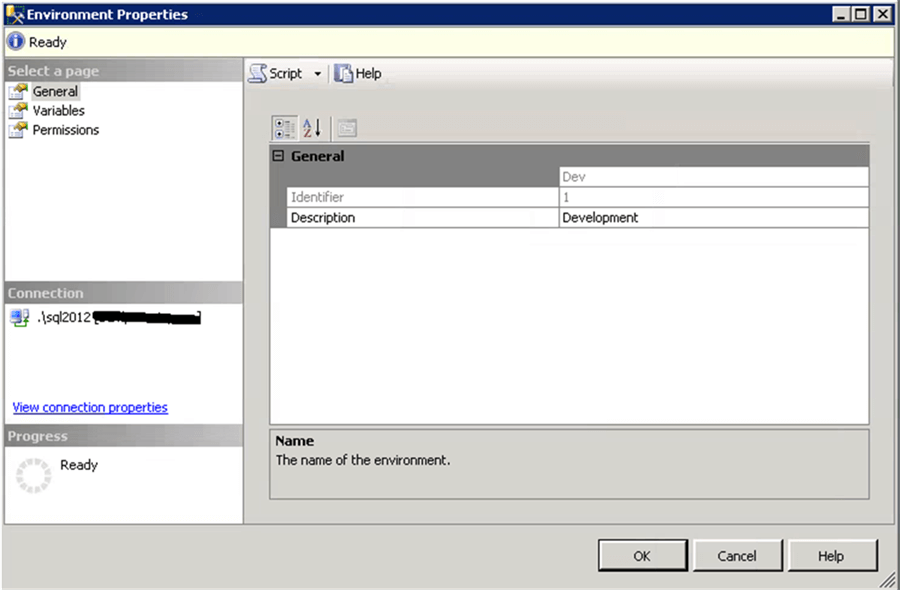 SSIS Environment in the server - Description: SSIS Environment in the server