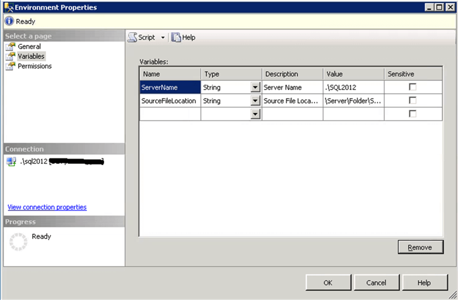 SSIS Environment variables - Description: SSIS Environment variables