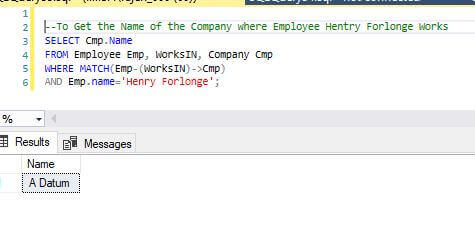 To Get the Name of the Company where Employee Hentry Forlonge Works in SQL Server 2017