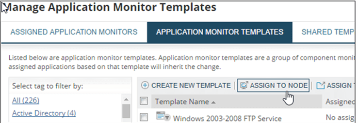 Add Template - Description: Add Template to a Node.