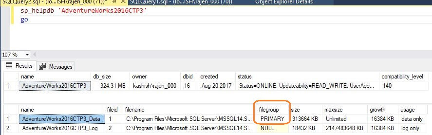 SQL Server Database Properties