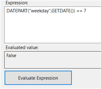 evaluate expression in SQL Server Integration Services