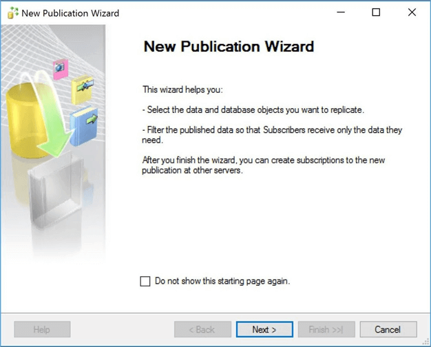 new publishing wizard