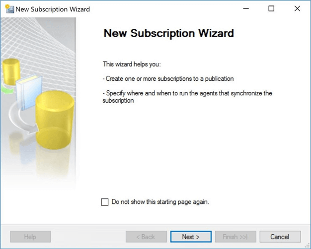 new subscription wizard