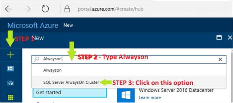 New Microsoft Azure SQL Server AlwaysOn Cluster