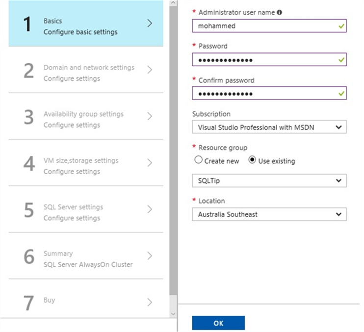 Configure the Basic SQL Azure Configuration Options for AlwaysOn