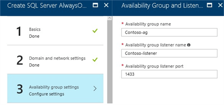 Configure the Availability Group Settings for Microsoft SQL Server AlwaysOn Cluster on Azure
