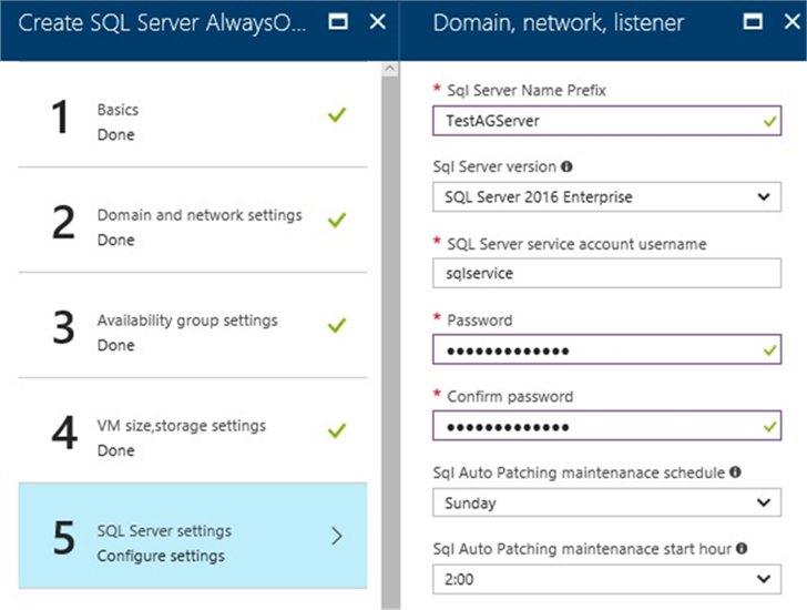 SQL Server Settings for Microsoft SQL Server AlwaysOn Cluster on Azure