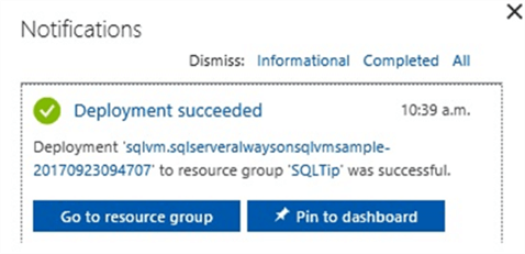 SQL Azure Successfully Completed