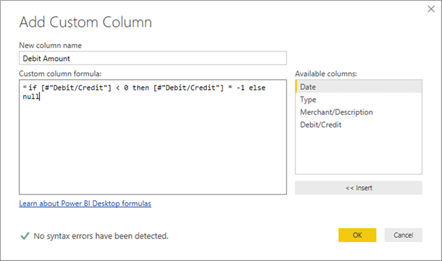 Adding custom column - Description: Adding custom column