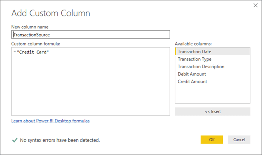 Adding custom column in transaction table - Description: Adding custom column in transaction table