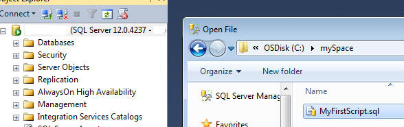 open file from source control folder in SSMS